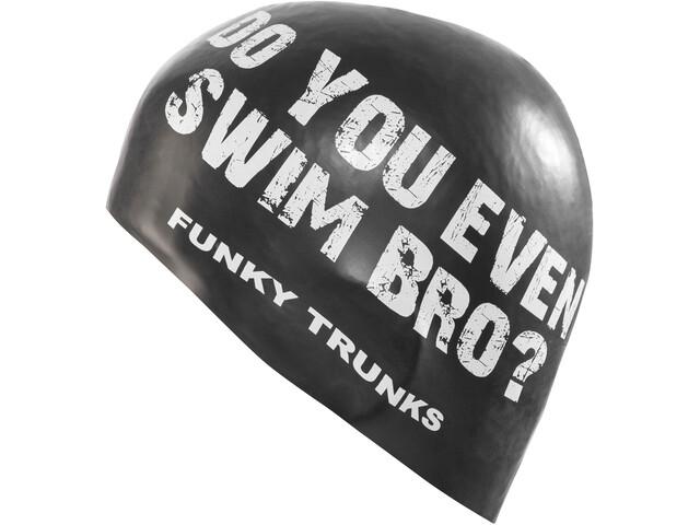 Funky Trunks Silicone Swimming Cap - Bonnet de bain Homme - blanc/noir
